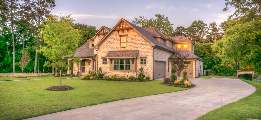 Stunning front yard landscaping and lawn