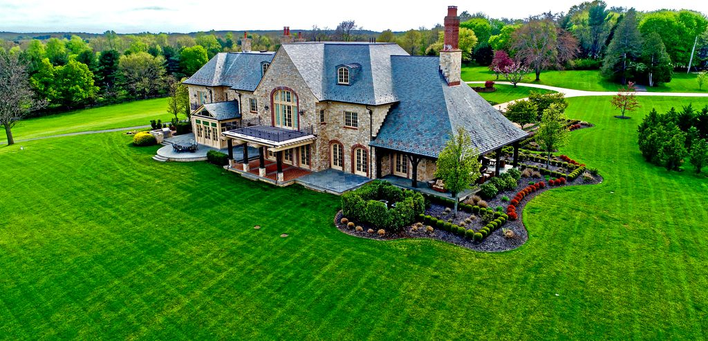 Large home arial view